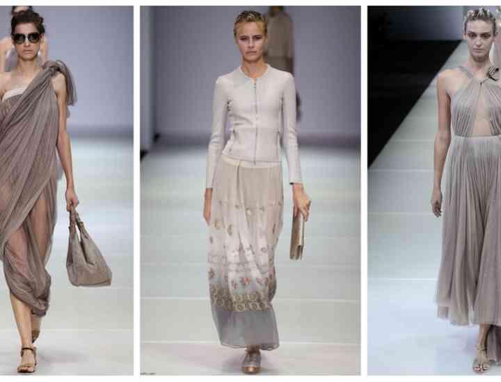 Colecția Giorgio Armani pentru primăvara / vara 2015 la Milano Fashion Week