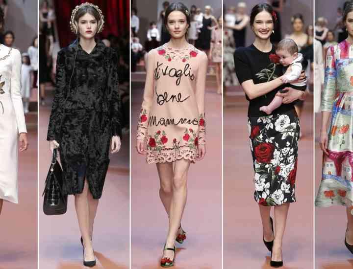 Colecția D & G toamnă / iarnă 2015 – tribut pentru Ziua Mamei