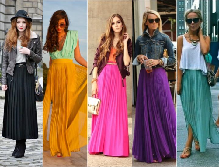 Fustele plisate sunt din nou la modă: modele și culori care se poartă în 2015