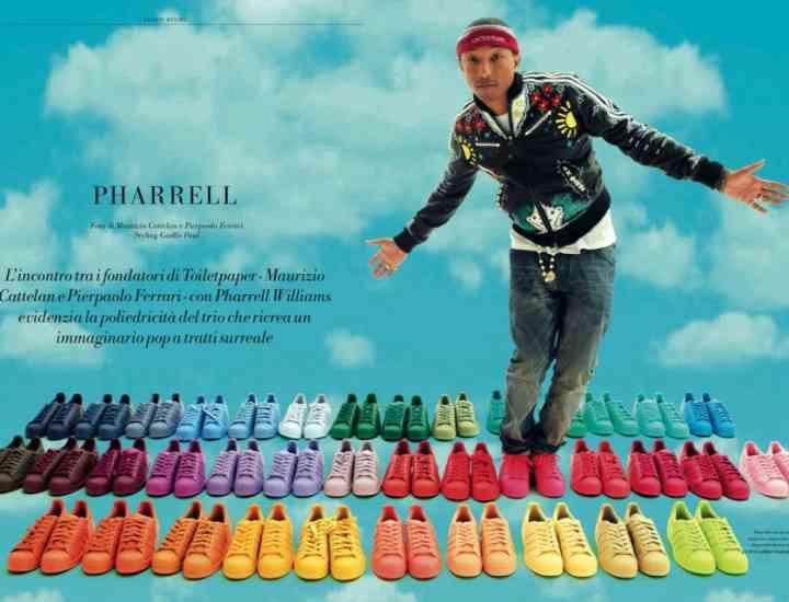 Adidași în 50 de culori: colecția unisex Pharrell Williams în colaborare cu Adidas Originals