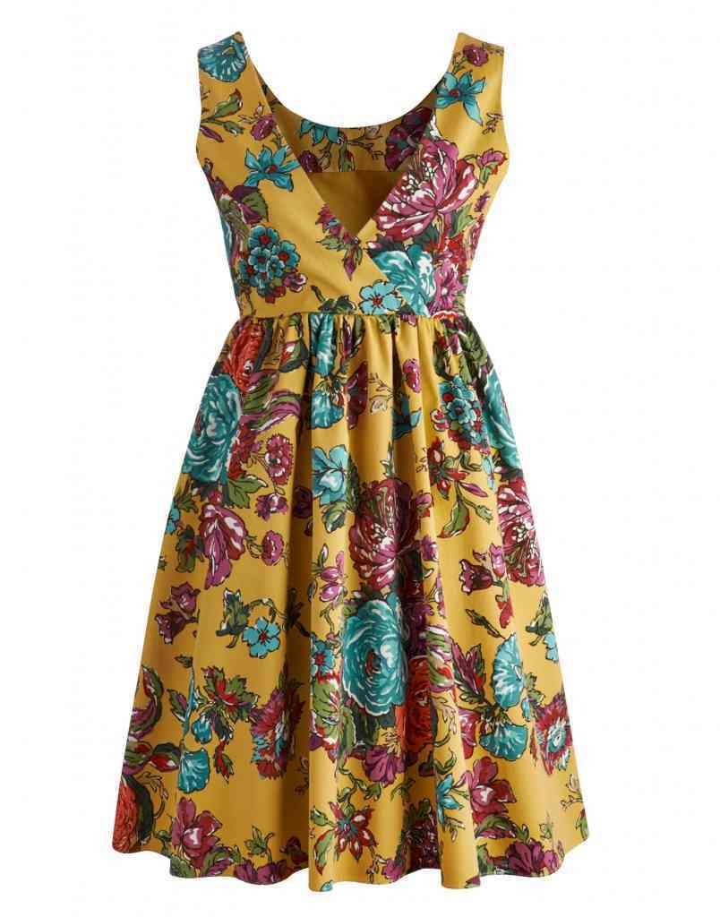 MODA FEMEI 2015 rochie imprimeu floral