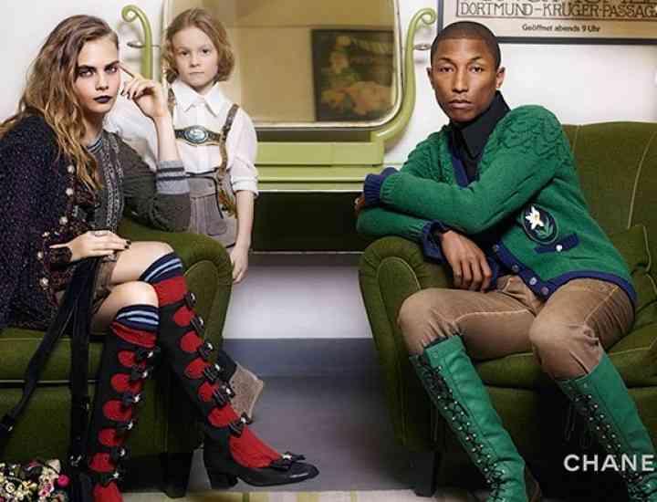 Pharrell Williams și Cara Delevingne, campania Chanel 2015