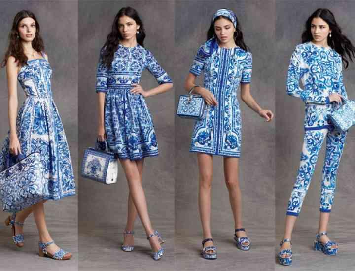 Albastru majolica – vedeta colecției Dolce & Gabbana de accesorii 2016