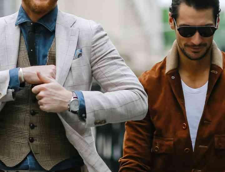 Exemple de bărbați îmbrăcați bine