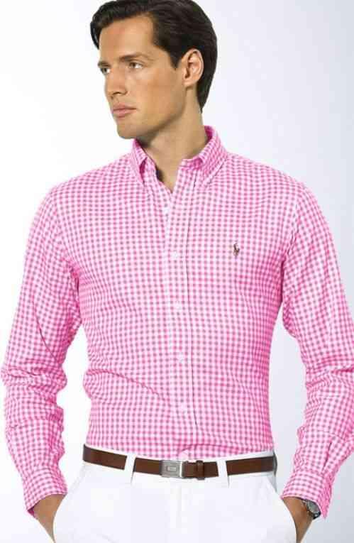 camasa roz barbati