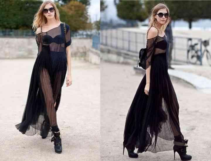 Cum să porți rochia transparentă ca o vedetă