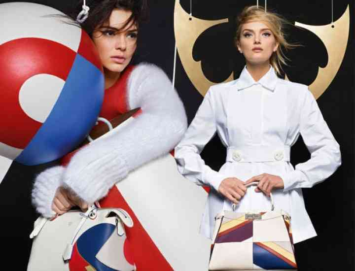 Campania Fendi pentru toamna / iarna 2015 cu Lily Donaldson și Kendall Jenner