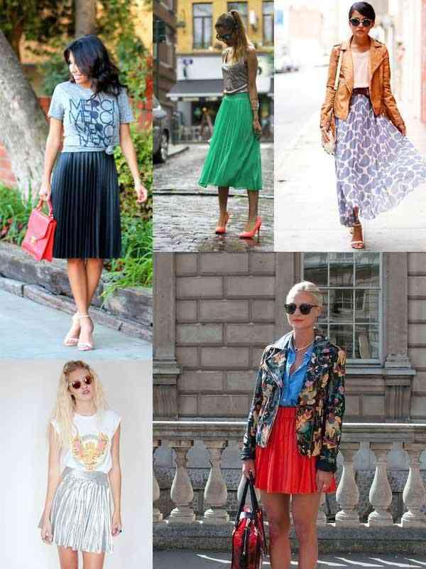 fusta plisata e la moda