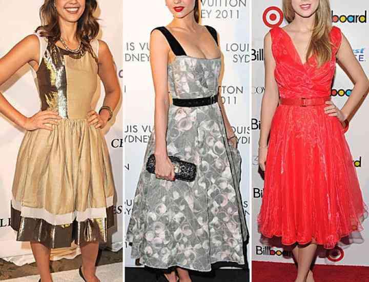 Învață de la vedete cum să porți o rochie de inspirație retro