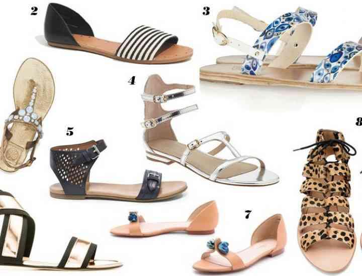 Cu ce să porți sandalele plate vara asta