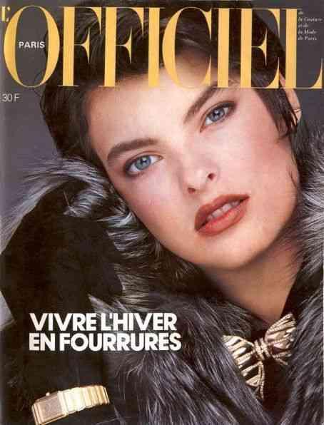 1984 L'Officiel linda evanghelista
