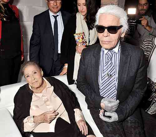 Gaby Aghion si karl lagerfeld