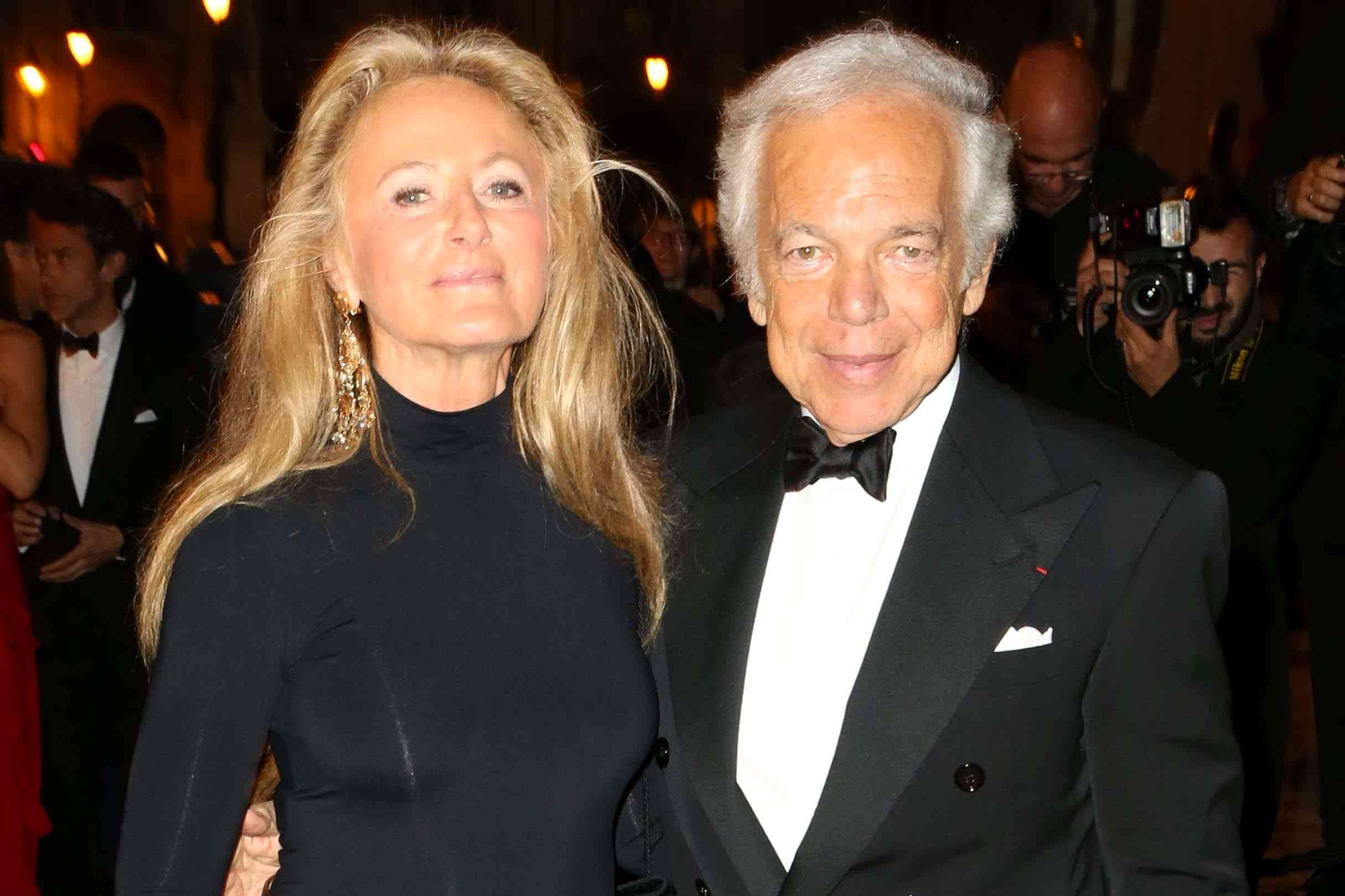 PARIS, FRANCE - OCTOBER 09: Ricky Lauren and Ralph Lauren arrive at a Ralph Lauren Collection Show and private dinner at Les Beaux-Arts de Paris on October 9, 2013 in Paris, France. On this occasion Ralph Lauren celebrates the restoration project and patron sponsorship of L'Ecole des Beaux-Arts. (Photo by Michel Dufour/WireImage)