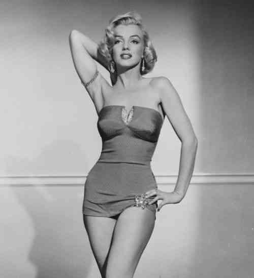 Marilyn-Monroe silueta clepsidra