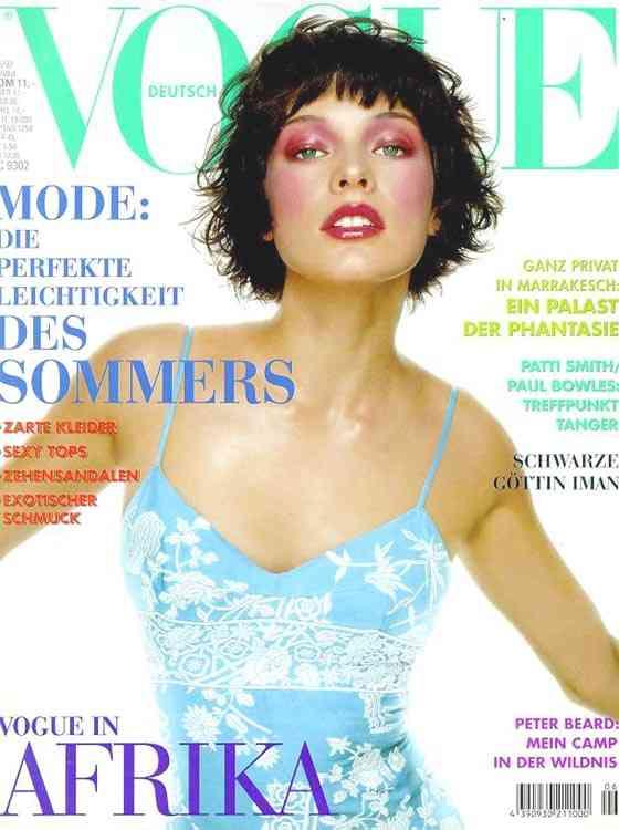 Milla Jovovich modeling