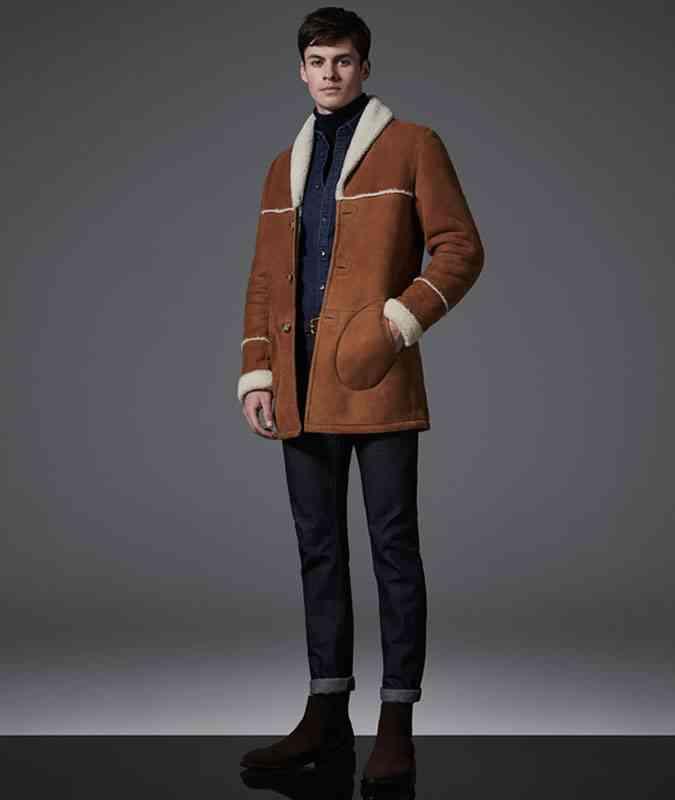jacheta cu guler de blana pentru iarna