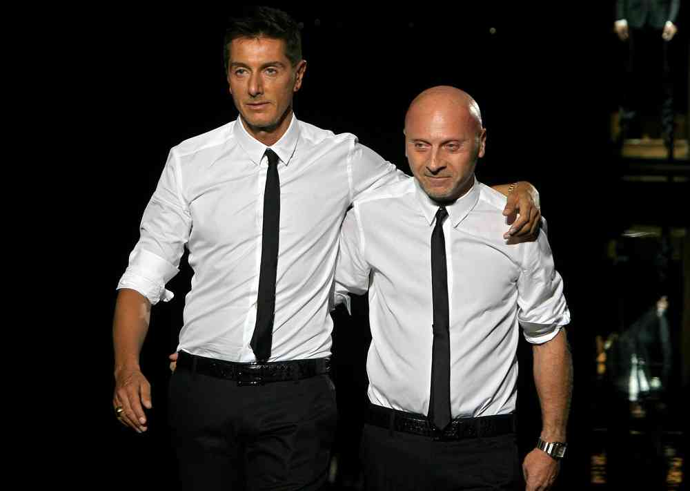 Image: Italian fashion designers Domenico Dolce (L) and Stefano Gabbana
