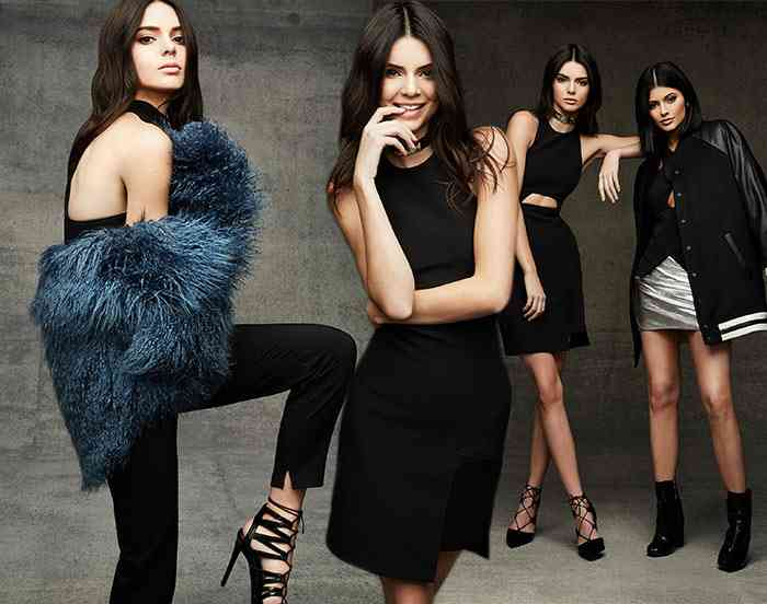 Kendall and Kylie Jenner topshop