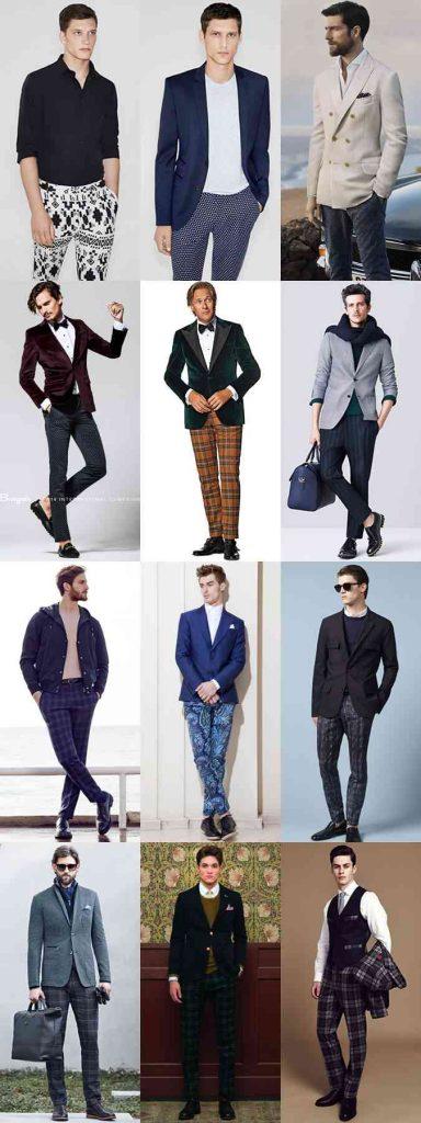 pantalonii cu model la petrecere