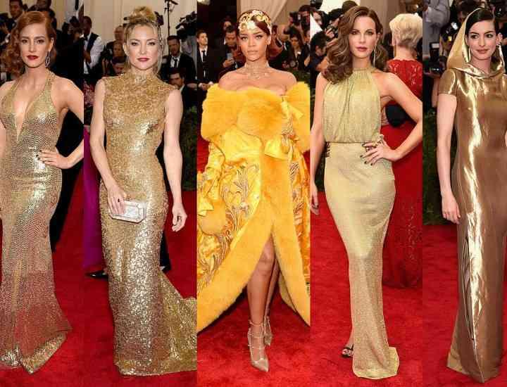 Cum poartă vedetele rochia aurie sau argintie