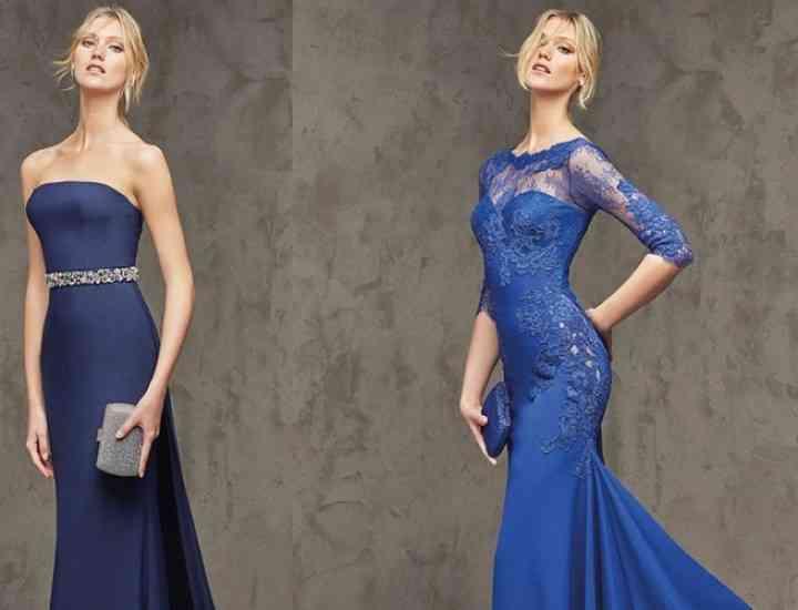 Rochii elegante Pronovias de culoare albastră