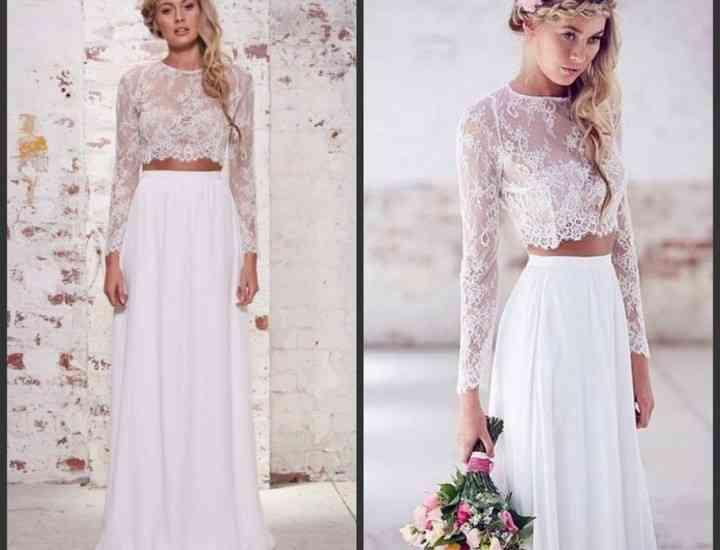 Tendințe mirese 2016: rochii din două piese