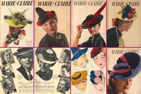 Marie Claire din 1937 1938 1939 și 1940.