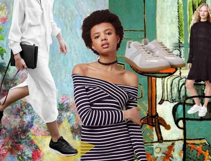 Rochie + adidași … noua uniformă pentru fete cool
