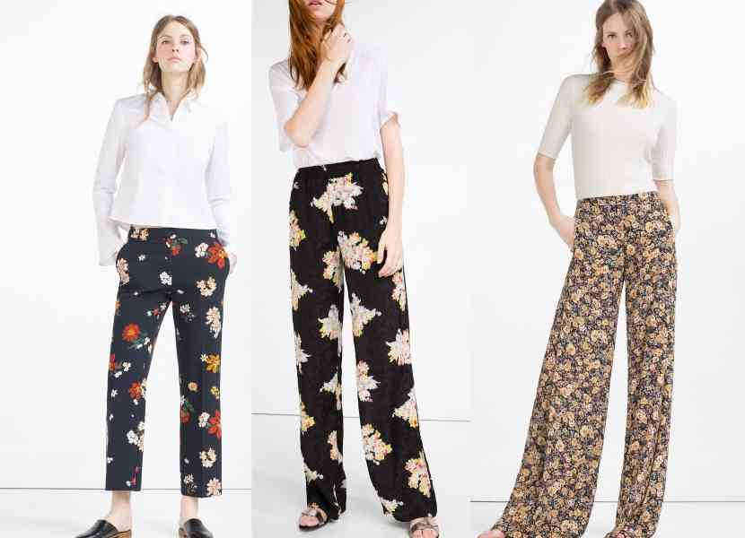 pantaloni imprimati primvara 2016
