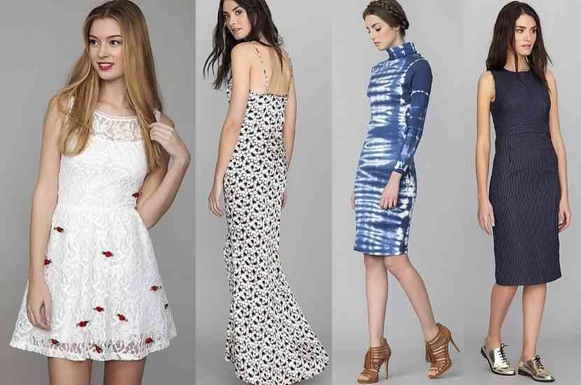 rochii midi și maxi blanco