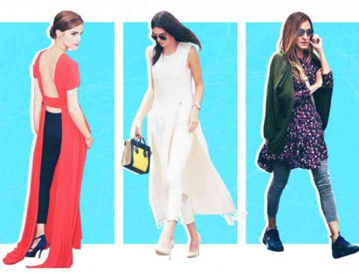Trend alert: Se poartă rochia peste pantaloni!