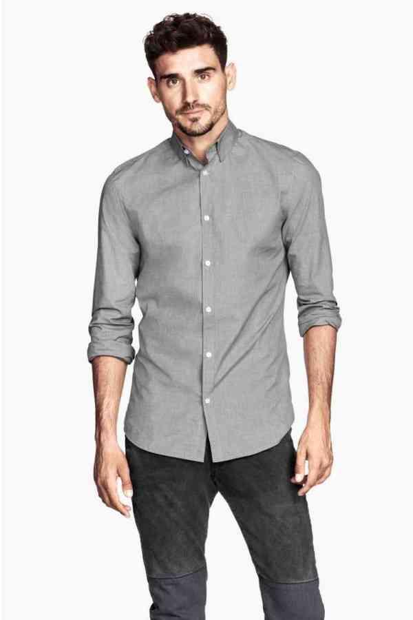 camasa gri+ pantaloni gri h&m 2016