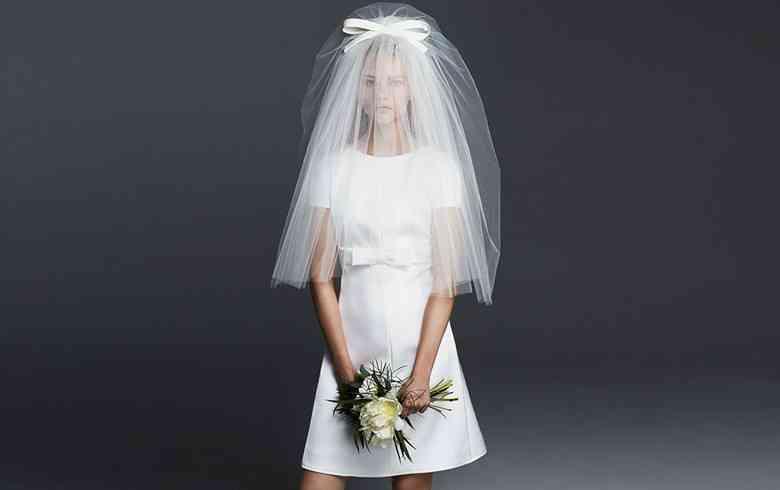 rochie mireasa scurta max mara