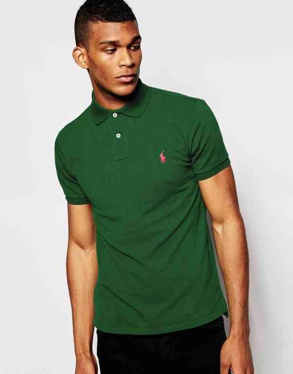 tricou polo verde+pantalon negru