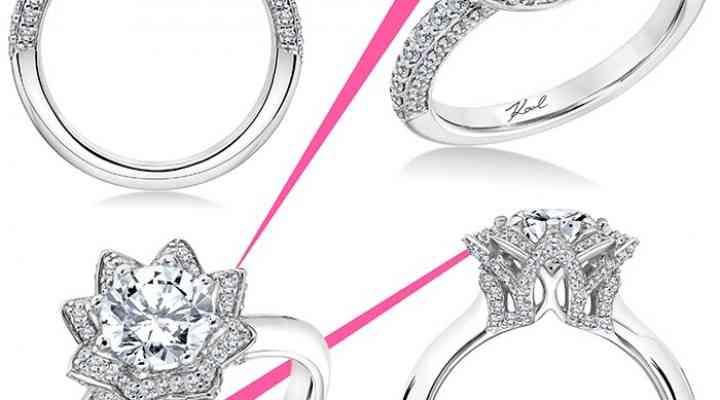 Inele de logodnă la modă semnate Karl Lagerfeld