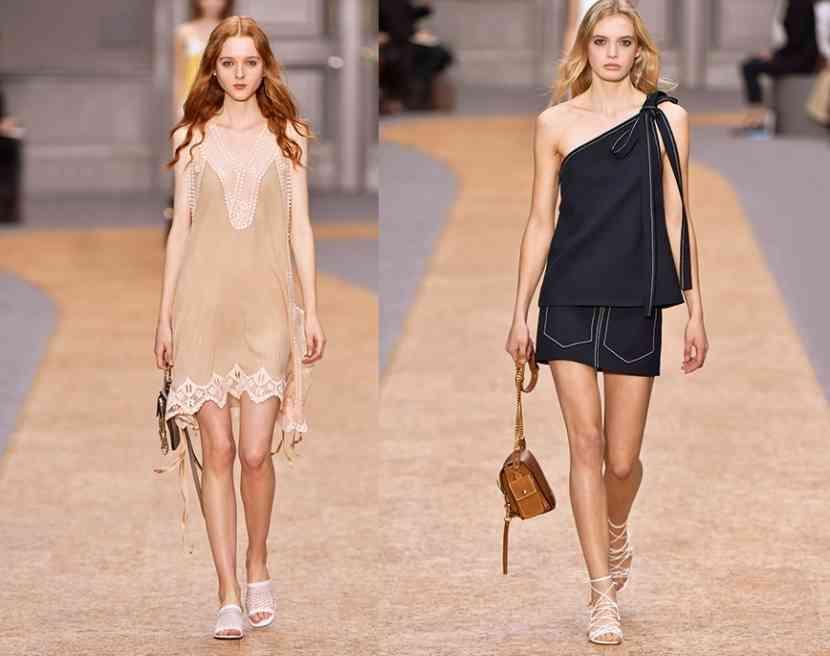 rochii scurte asimetrice chloe