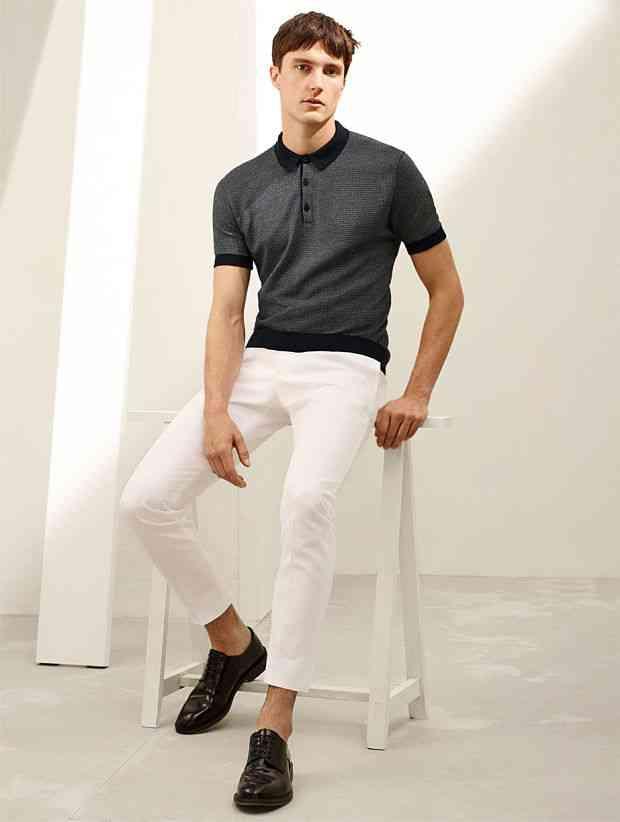 pantaloni albi  zara