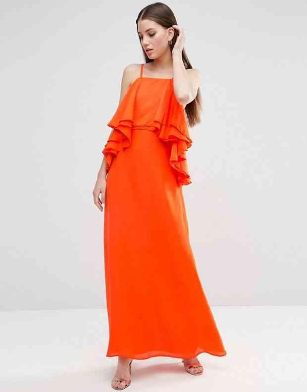 rochie lunga volane