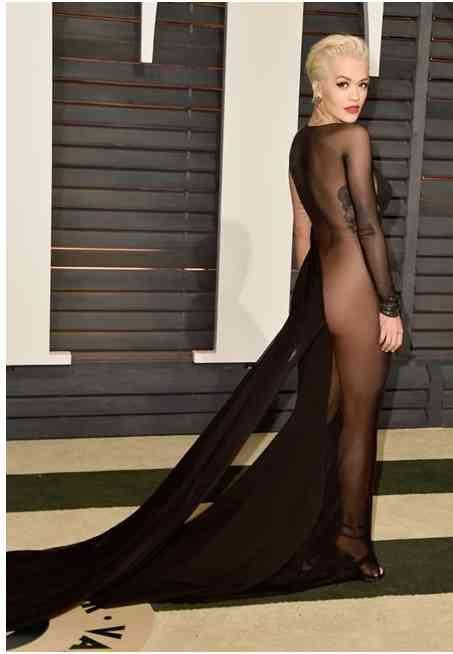 rochie transparenta rita ora