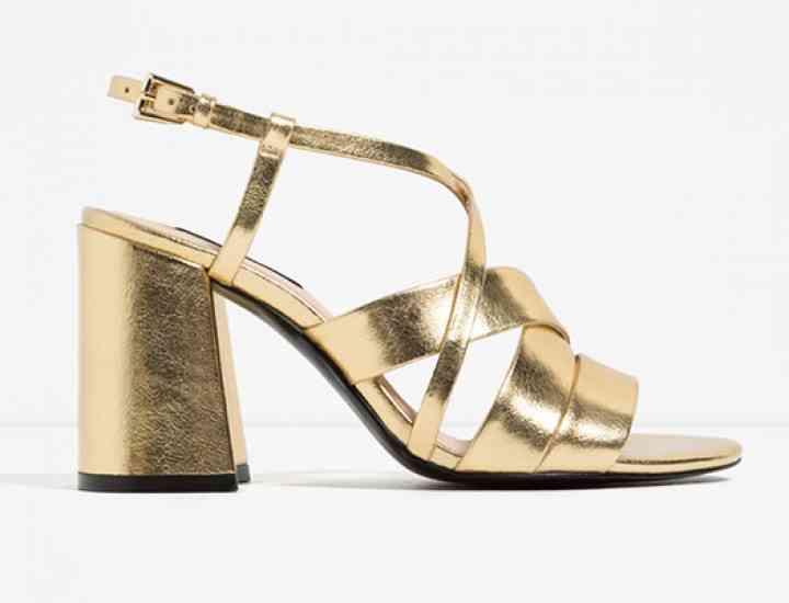 Sandale metalizate pentru vară