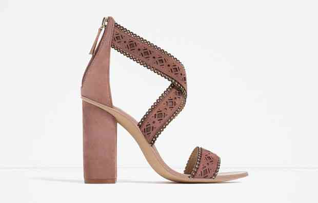 sandale roz zara