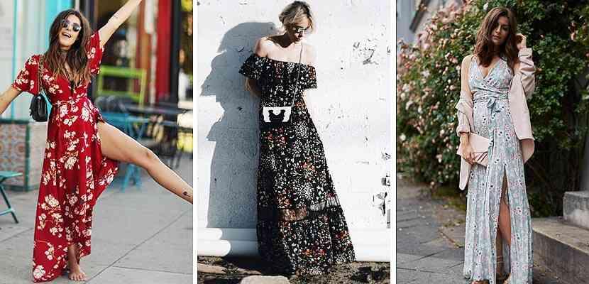 rochii lungi flori vara 2016