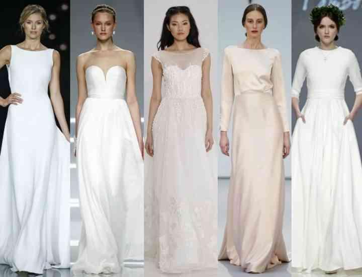 Simplitatea, noua tendință în rochii de mireasă 2017