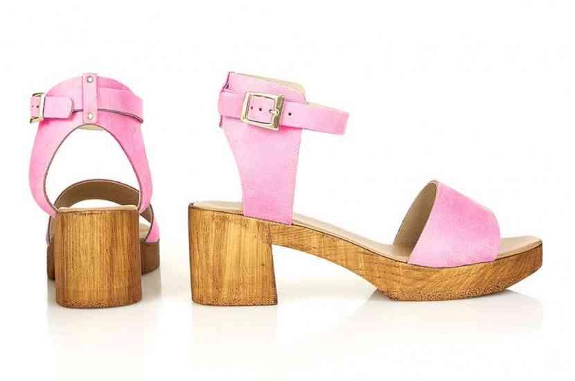 sandale toc lemn
