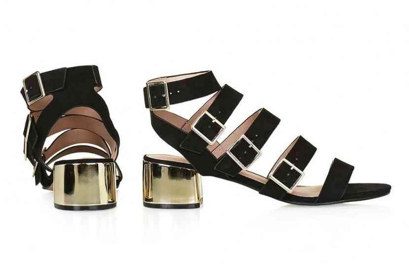sandale toc metalizat
