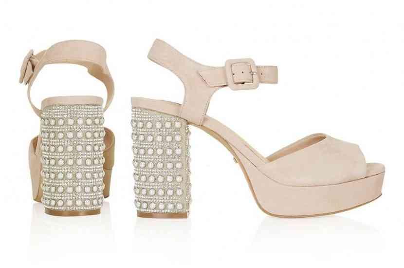 sandale toc pietre