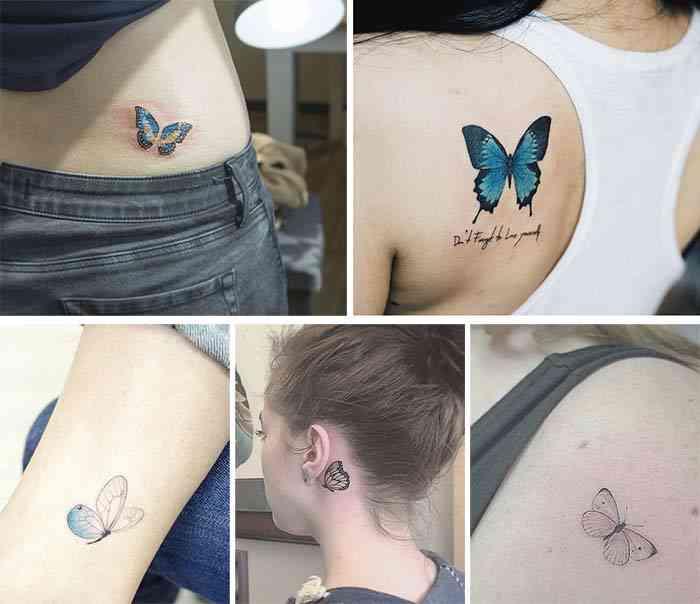 Tatuaj cu fluturi
