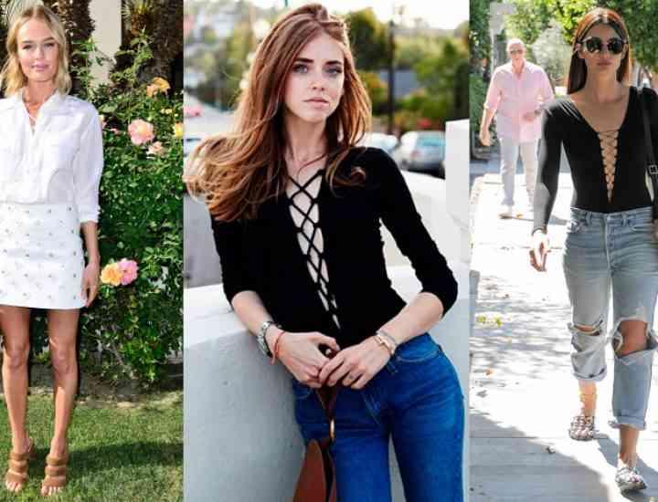 Topul lace-up este la modă în vara 2016