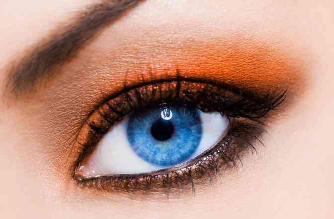 machiaj ochi portocaliu