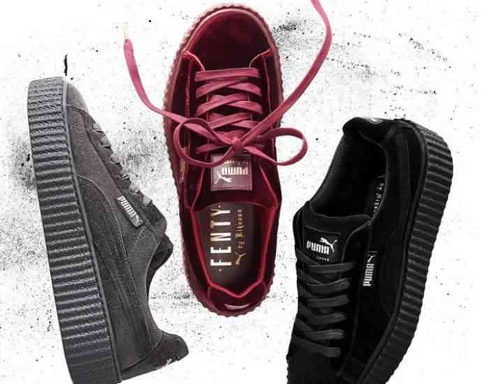 Fenty by Puma x Rihanna lansează o colecție de adidași de catifea